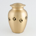 Paw Prints collection - Chetan classic paw tracks Pet Urn- bronze/black with antique finish