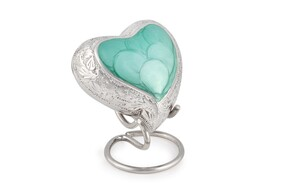 Ashes Jade Heart engraved keepsake