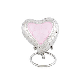 Ashes Pink heart engraved keepsake