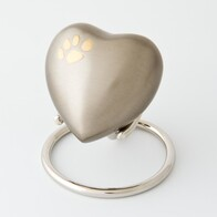 Eternal heart keepsake corner paw - pewter/bronze with antique finish