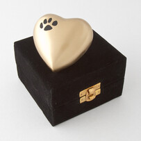 Eternal heart keepsake single paw - bronze/black with antique finish